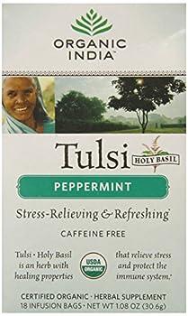Organic India Tulsi Tea Peppermint, 1.08 Oz, 18 Count