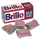 Brillo W240000CT Hotel Size Steel Wool Soap Pad, 10 per Box