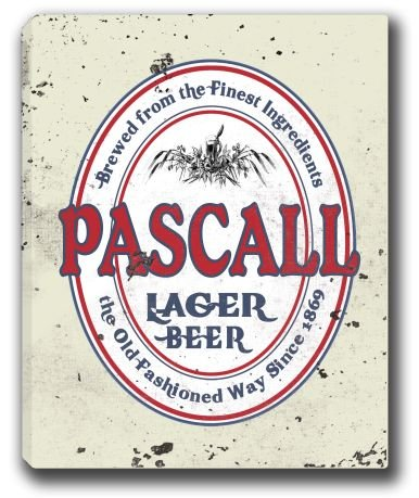pascall-lager-beer-stretched-canvas-sign