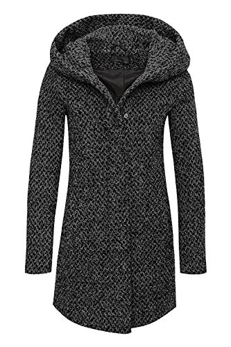 Only women coat Onlindie Sedona Petit long wool coat Dark Grey Mela