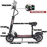 Gjfhome-Monopattino-Elettrico-Pieghevole-Scooter-Elettrico-con-Sedile-RimovibileMotore-500W-velocit-Fino-A-35-KmHDoppio-Sistema-di-FrenaturaE-Scooter-per-AdultiNero