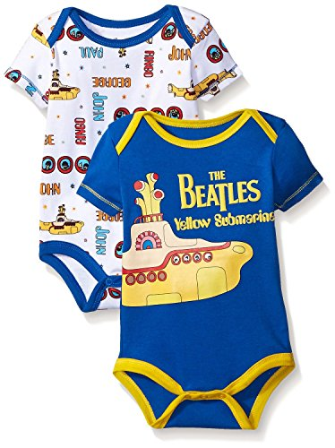 The Beatles Baby Boys Value Pack Bodysuits  Blue  3 6 Months