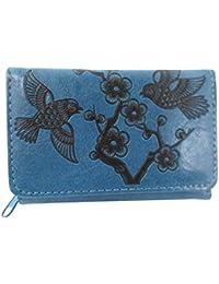 Zen Garden Cherry Blossom and Birds Embossed Small Wallet