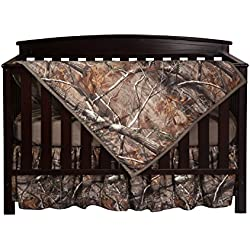 Carstens Real Tree AP Camo 3-Piece Crib Sheet Set, Brown