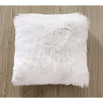 ojia deluxe home decorative super soft plush mongolian faux fur throw pillow cover cushion case - Mongolian Faux Fur Pillow