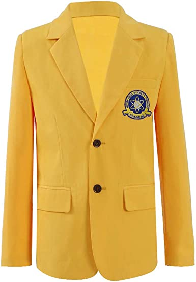 Spider-Man Homecoming Peter Parker Cos Costume Yellow School Uniform Suit Jacket