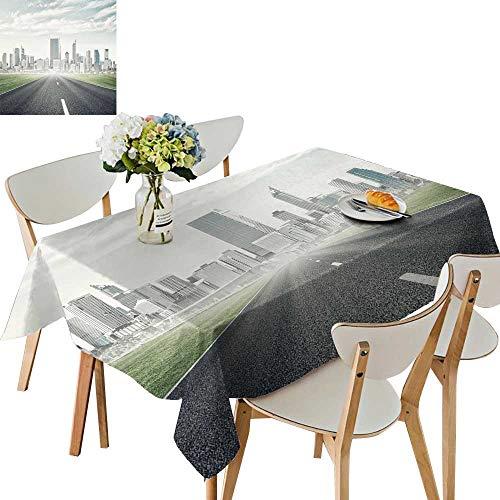 UHOO2018 Printed Fabric Tablecloth Square/Rectangle Natura Asphalt ROA City Wedding Party Restaurant,50 x 81inch ()