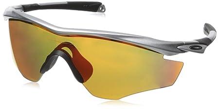 Oakley Herren M2 Frame 921218 0 Sonnenbrille, Orange (Fingerprint Atomic Orange/Blackiridiumpolarized), 39