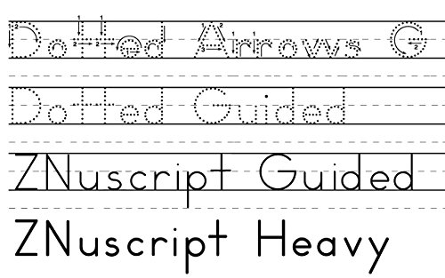 Amazon.com: ZMethod 44 fonts for Zaner-Bloser worksheets Windows ...