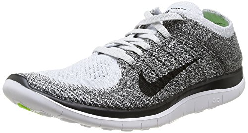 b3ce519b7884b Nike Mens Free 4.0 Flyknit Running Shoes Pure Platinum Black Charcoal 631053-010  Size 12 - Buy Online in UAE.