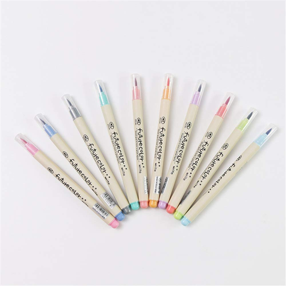 10 pieces/batch writing color marker pen set calligraphy drawing gift stationery art supplies by Pintura