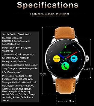 bigdeal Media Shop Smart Watch k88h Bluetooth podómetro Frecuencia ...