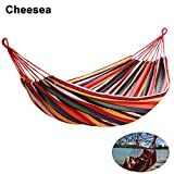 PRODUCT SPECIFICS: Material: Canvas 2 Colors: Red, Blue Size: 200 x 80cm/78.7 x 31.5inch Type: Hammock Chair Occasion: Yard, Bedroom, Porch and so on Package Content: 1 x Hammock Chair Set  Features: ✔It is tightly woven with comfortable, long lastin...