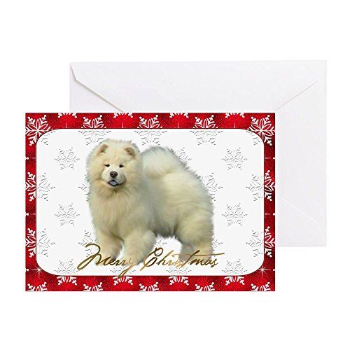 Chow Note - CafePress - Chow Chow Christmas Card - Greeting Card, Note Card, Birthday Card, Blank Inside Glossy