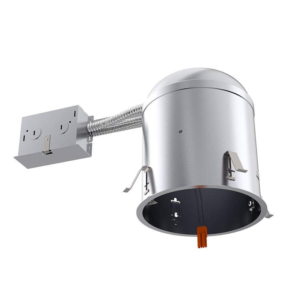 Sunco Lighting 6 Pack 6 Inch Remodel Housing, Air Tight IC Rated Aluminum Can, 120-277V, TP24 Connector Included for Easy Install - UL & Title 24 Compliant by Sunco Lighting (Image #2)