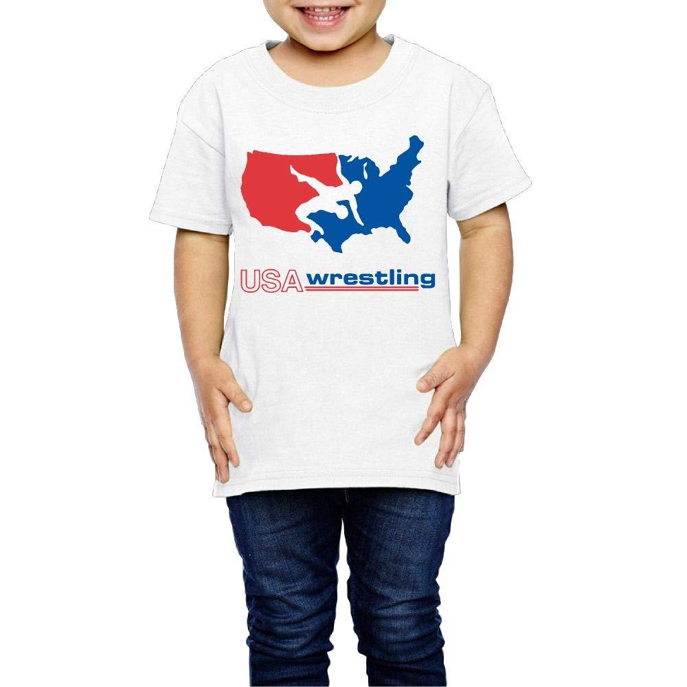 XYMYFC-E USA Wrestling 2-6 Years Old Children Short Sleeve T Shirt