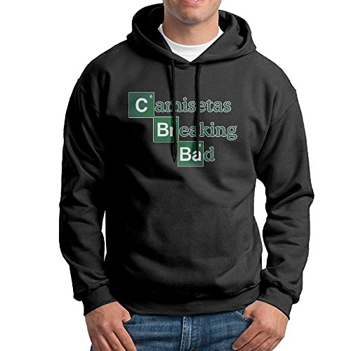 ZhiqianDF Camisetas Breaking Bad Men's Pullover EcoSmart Fleece Hooded Sweatshirt Black - Warehouse Gift Card Running Sale