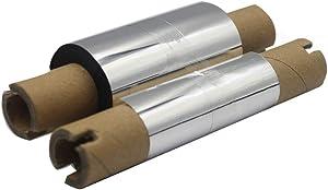 "LENVII Black Wax Ribbon for Zebra Thermal Transfer Desktop Printers(2.36"" x 230', 0.5'' Core, 5 Rolls/Package)"