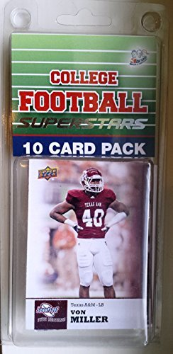 10 card pack college football texas a&m aggies different superstars starter kit