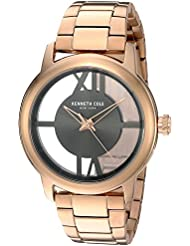 Kenneth Cole New York Womens 10024376 Transparency Analog Display Japanese Quartz Rose Gold Watch