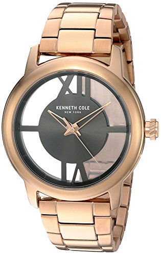 Watch Gold Transparent (Kenneth Cole New York Women's 10024376 Transparency Analog Display Japanese Quartz Rose Gold Watch)