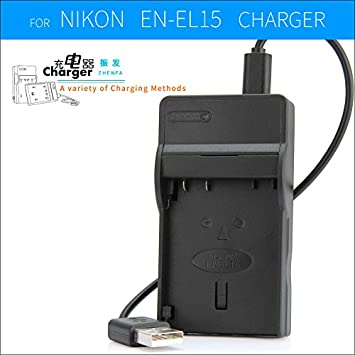 zhenfa EN EL15 EN EL15 Battery Charger MH 25 MH25 For Nikon Cameras 1 V1 D750 D800E D7000 D7100 D7200 D8000 D600 D800 D810 D610 Batteries   Chargers