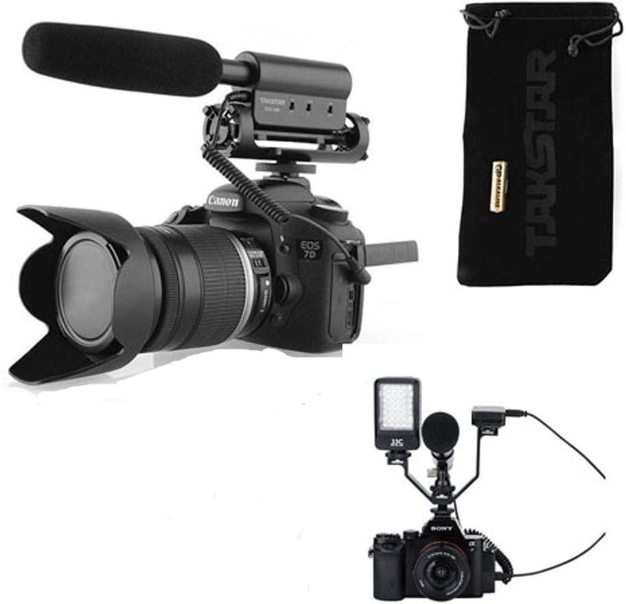 Takstar - Micrófono estéreo tipo pistola (para videocámaras réflex ...