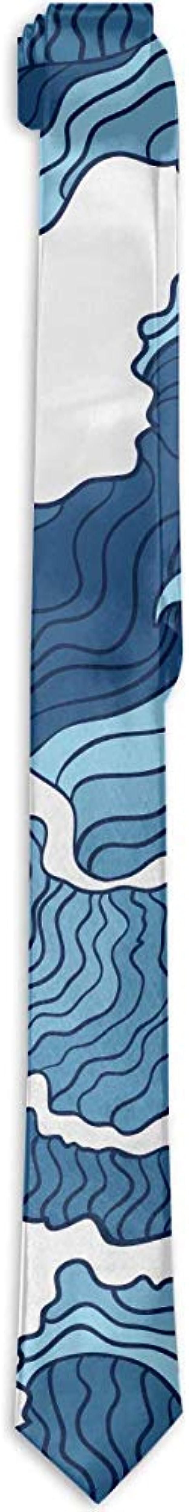 Sherly Yard Corbata de hombre con lazo japonés azul y blanco ...