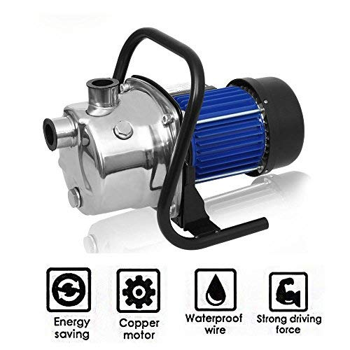 - Ferty 1.6HP Home Garden Lawn Sprinkling Booster Pump Stainless Shallow Well Pump for Irrigation and Water Transport