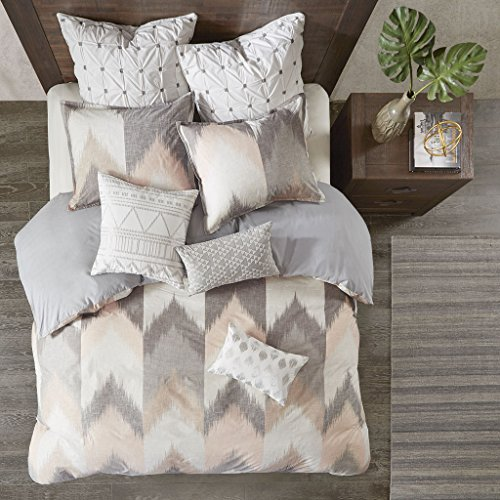 3pc Full/Queen Alpine Cotton Duvet Cover Mini Set Blush