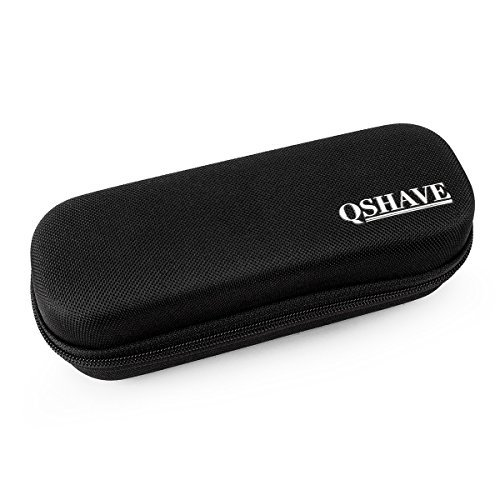 QSHAVE Hard Travel Case for OneBlade Hybrid Electric Trimmer Shaver, QP2520 QP2570 Organizer Carrying Bag Cover Storage (Black)