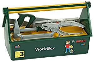 Bosch - Work Box, caja con herramientas de juguete (Theo Klein 8460)