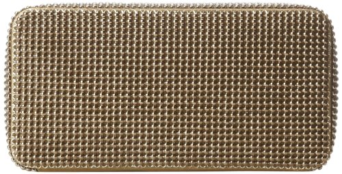 Whiting & Davis Bubble Box Minaudiere 1-5838AG Clutch,Antique Gold,One Size