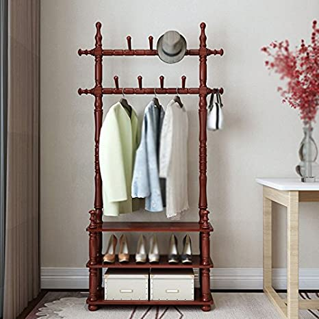 Amazon.com: lxla-coat Rack recámara para colgar ropa rack ...