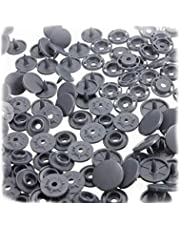 Plastic Snap Fasteners Buttons T8 Snaps for DIY Clothes Accessoriess Gray 100 Pcs Excellent Quality and Popular Clever and attractive