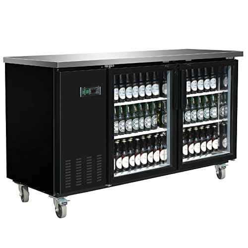 Omega Juicers DUURA DVBB70G X-Series Back Bar Cooler, Black
