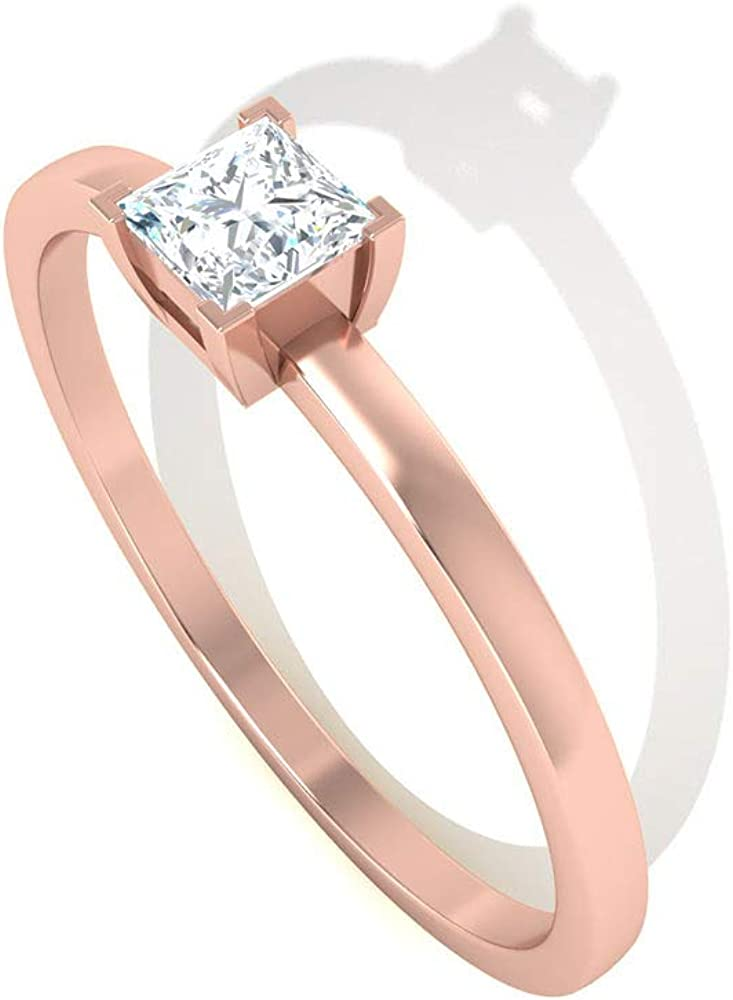 Size-12.5 1//6 cttw, G-H,I2-I3 Diamond Wedding Band in 10K Pink Gold