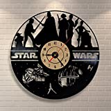 Vinyl Clock Black Clock Star Wars Design Bedroom Wall Decor