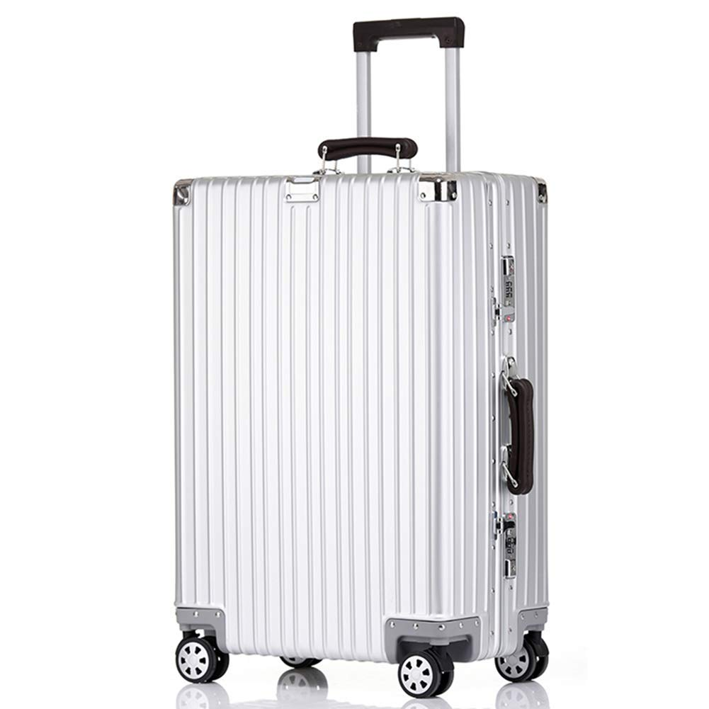 36-dianyejiancai - スーツケース全金属アルミマグネシウム合金8輪荷物、ヴィンテージシルバー (サイズ : 29 inches) B07S4KG7M1  29 inches