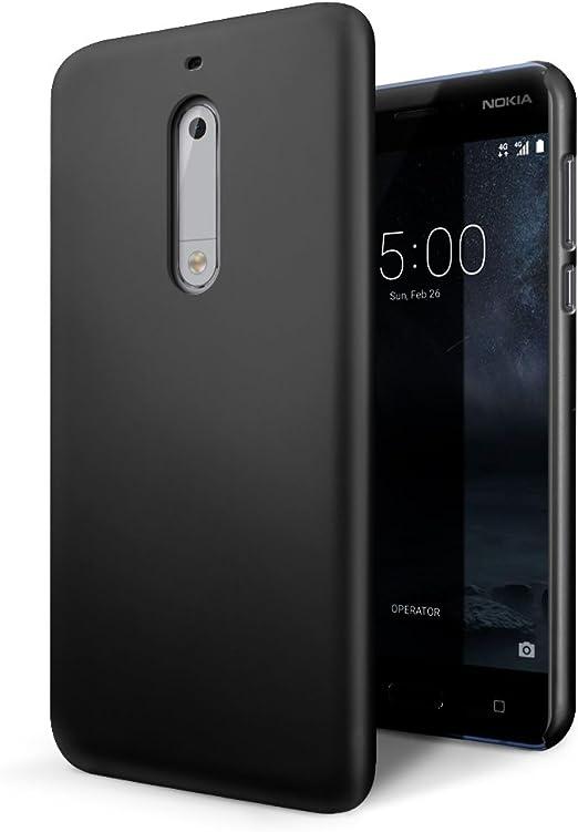 SLEO Funda para Nokia 5 PC Back Cover de Parachoques Duro Cubierta ...