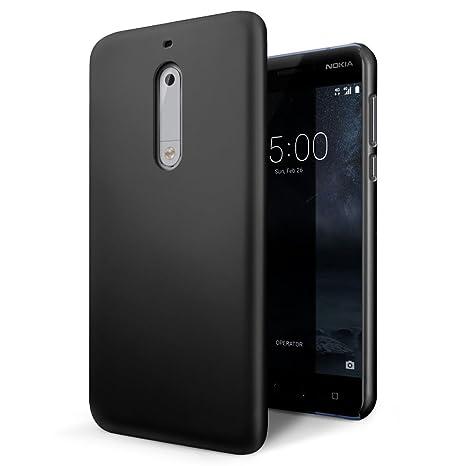 SLEO Funda para Nokia 5 PC Back Cover de Parachoques Duro Cubierta Protectora para Nokia 5 - Negro