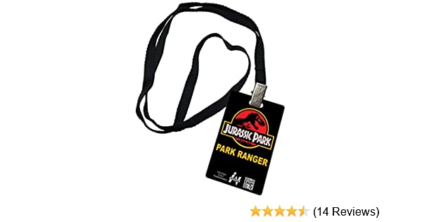 Jurassic Park Visitor Pass Novelty ID Badge Prop Costume