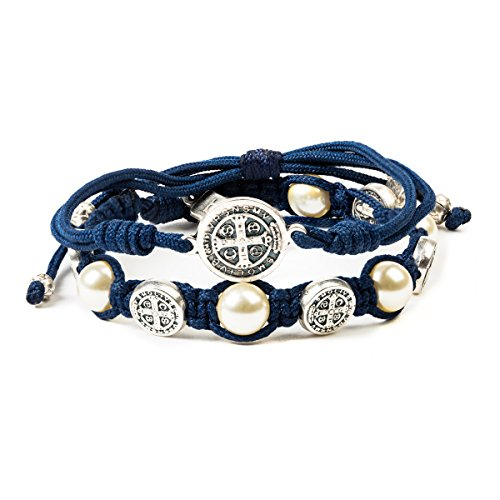My Saint My Hero Divine Blessings & Protection Set - Navy/Silver