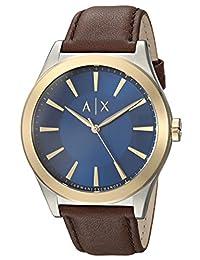 Armani Exchange AX2334 Watch, Men, Dress Brown Leather