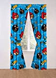"Angry Birds Childrens Window Panels with Tie-backs, 42"" x 63"" each. Set of 2 panels"