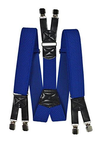 4cm Avec Fort Olata Royal Haute Extra Qualité De Bleu 6 Bretelles Clips wnBAqgzn
