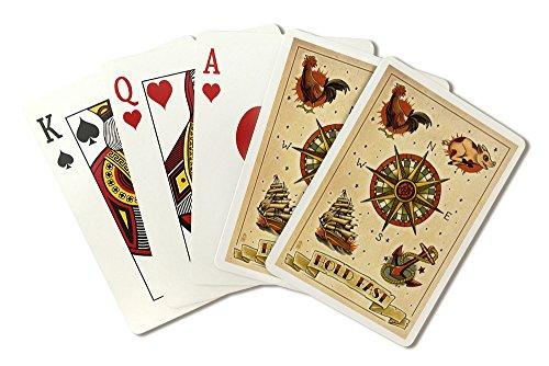 Heart Sailor Tattoo (Tattoo Flash Sheet - Sailors (Playing Card Deck - 52 Card Poker Size with Jokers))