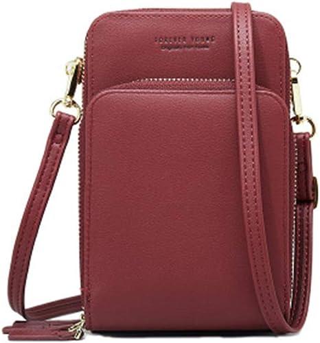 Les Femmes en Cuir Véritable Fermeture Éclair Petit Coin Sac Clutch Wallet Mini Pochette Sac à Main UK vendre