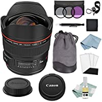 Canon EF 14mm f/2.8L II USM Wide Angle Lens + Canon EF 14mm Lens Advanced Accessory Kit - Canon Lens Bundle Includes EVERYTHING You Need to Get Started