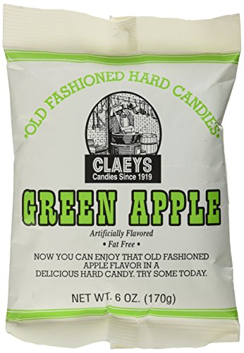 (Claey's, Old Fashioned Hard Candy Green Apple, 6 Ounce Bag)